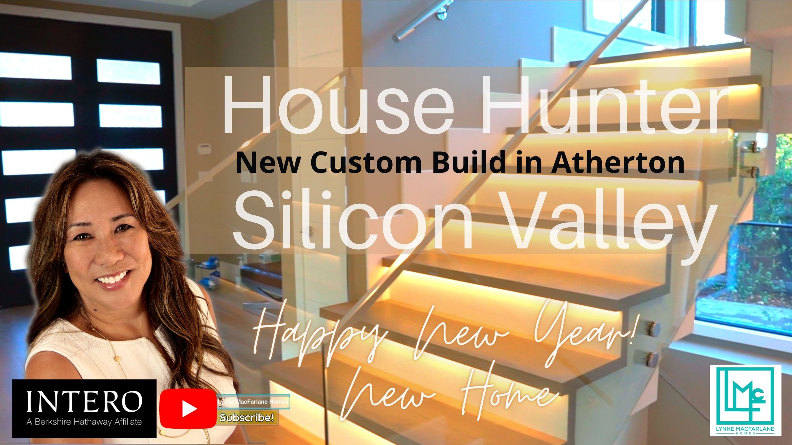 Lynne MacFarlane, House Hunter of Silicon Valley tours a custom brand new build in stately Atherton, California