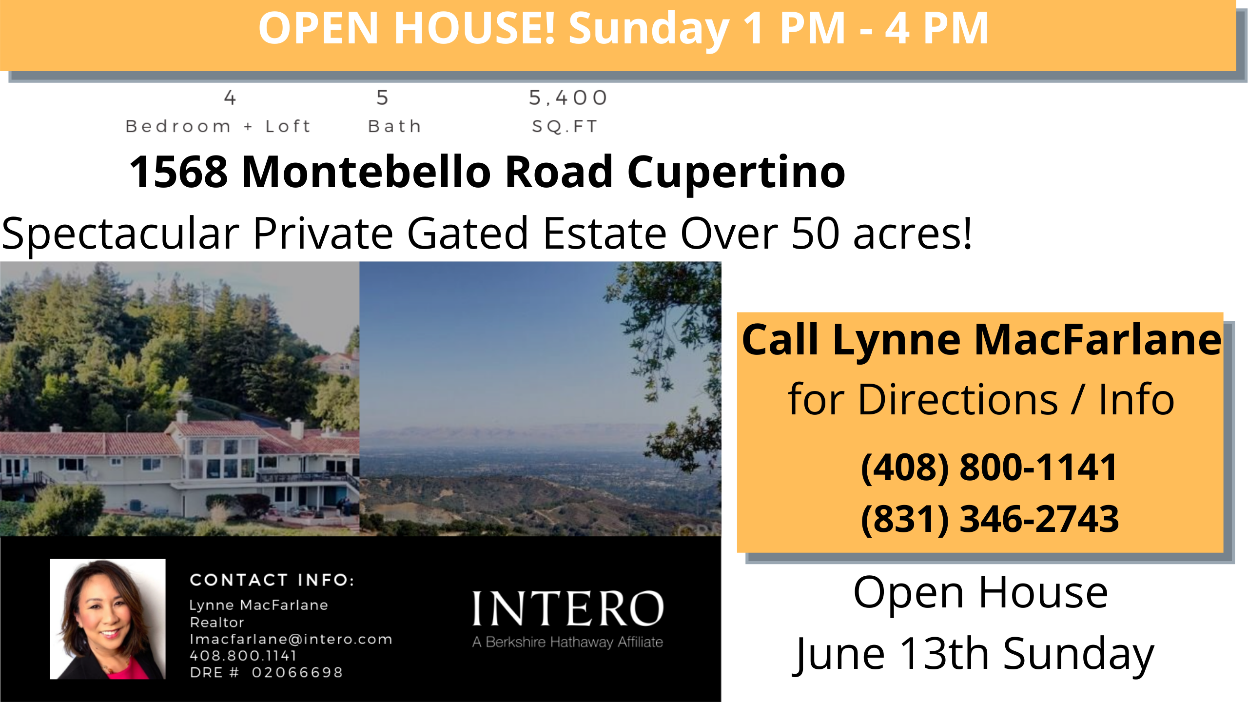 Lynne MacFarlane Homes hosts spectacular Cupertino private estate with 51 acres